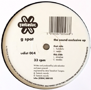 "G Spot ‎- The Sound Exclusive EP (12"") (VG/NM)"